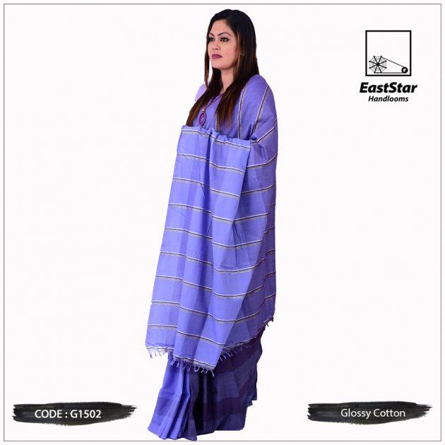 Glossy Cotton Saree G1502