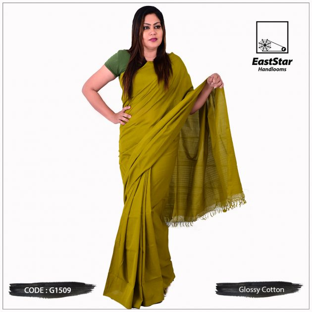 Glossy Cotton Saree G1509