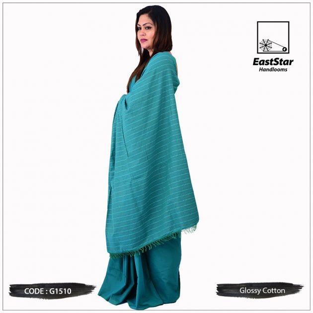 Glossy Cotton Saree G1510