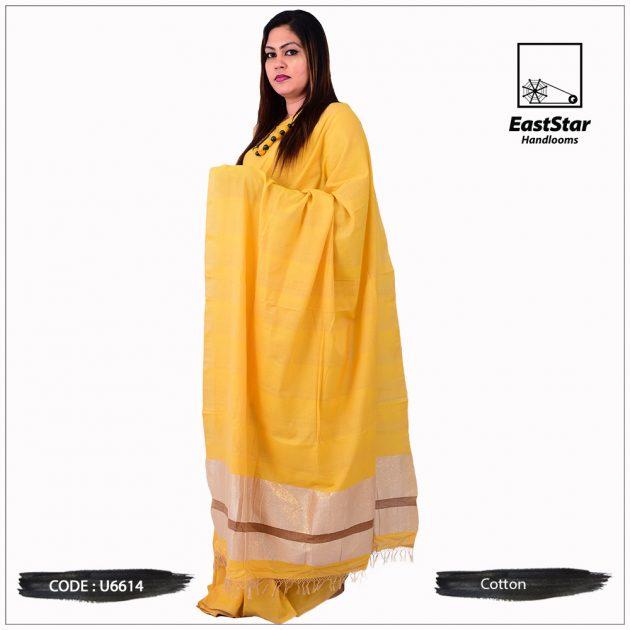 Handloom Cotton Saree U6614