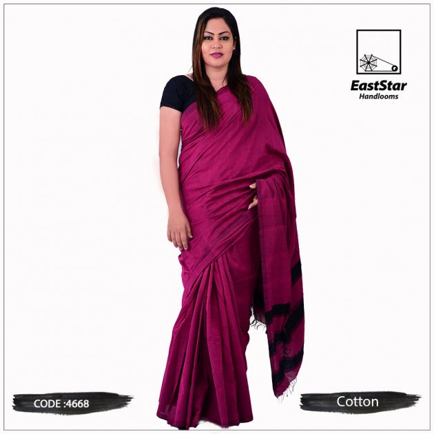 Code #4668 Handloom Cotton Saree