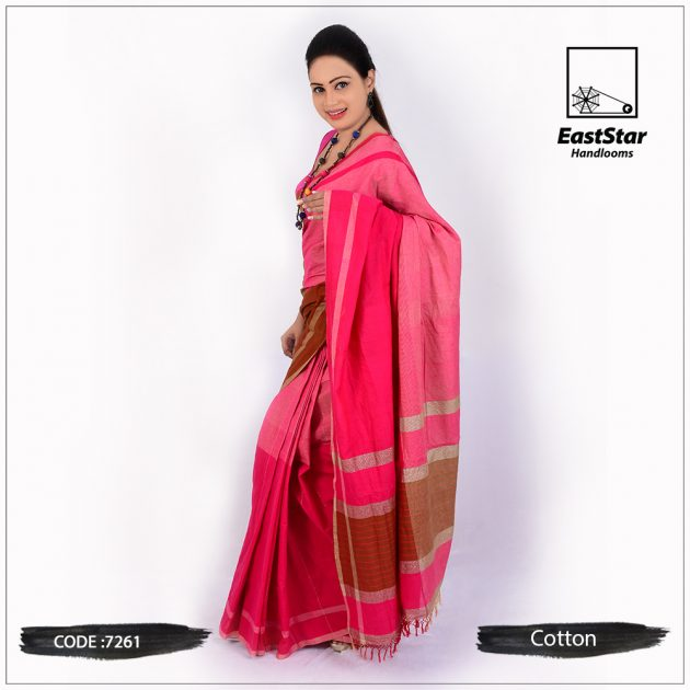 handloom cotton saree 7261