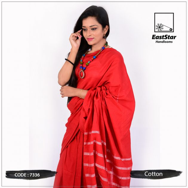 Handloom Cotton Saree 7336