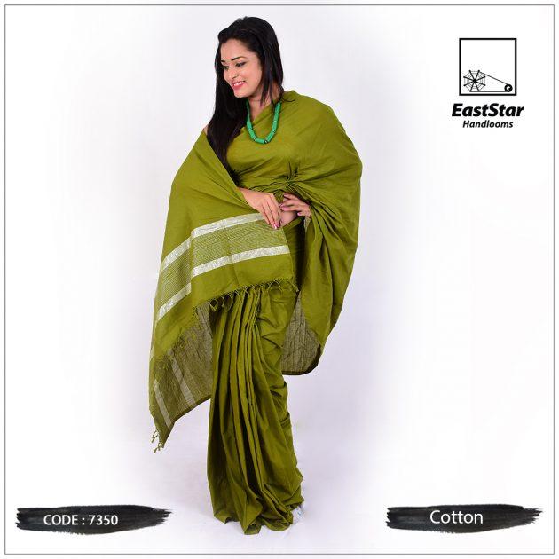 Handloom Cotton Saree 7350