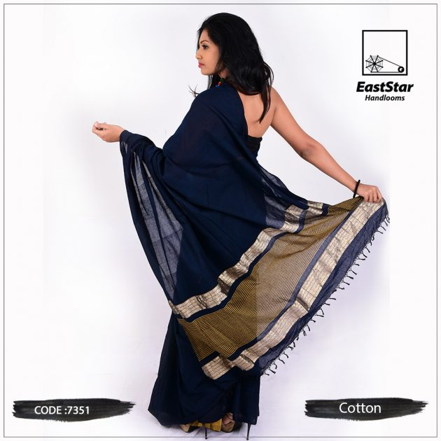 handloom cotton saree 7351
