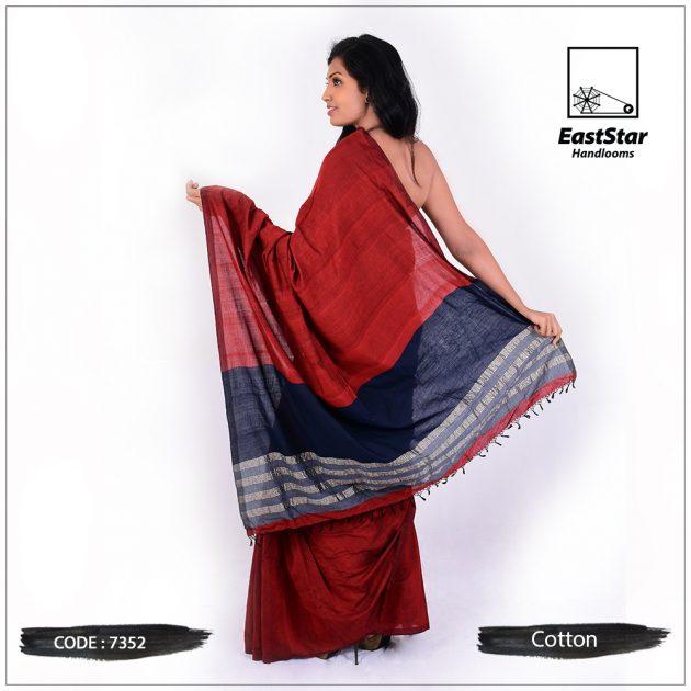 Handloom Cotton Saree 7352