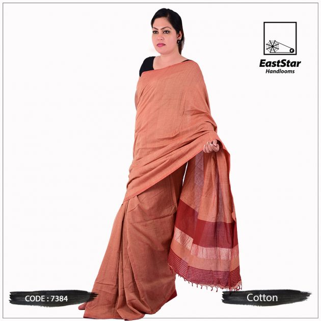 Handloom Cotton Saree 7384