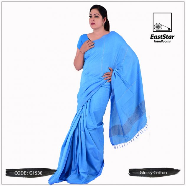 Glossy Cotton Saree G1530