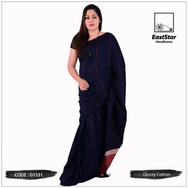 Glossy Cotton Saree G1531