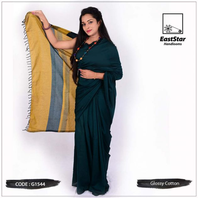 Glossy Cotton Saree G1544