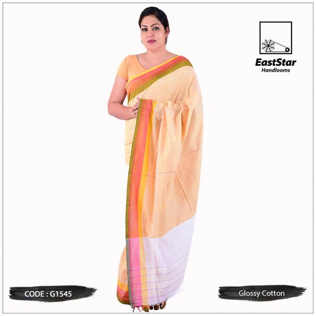 Glossy Cotton Saree G1545