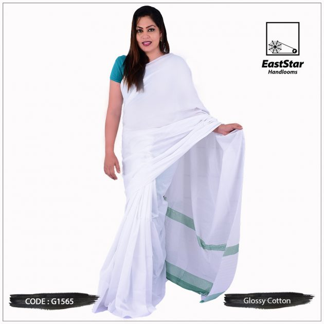 Handloom Glossy Cotton Saree G1565