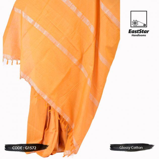 Glossy Cotton Saree G1572