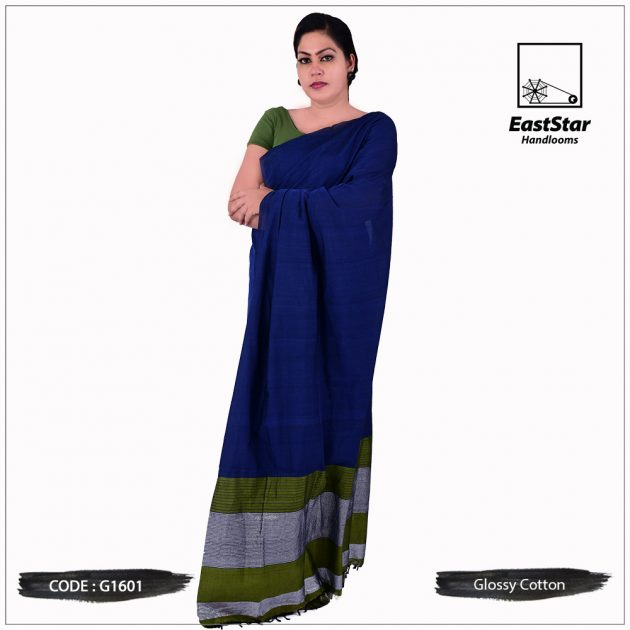 Handloom Glossy Cotton Saree G1601