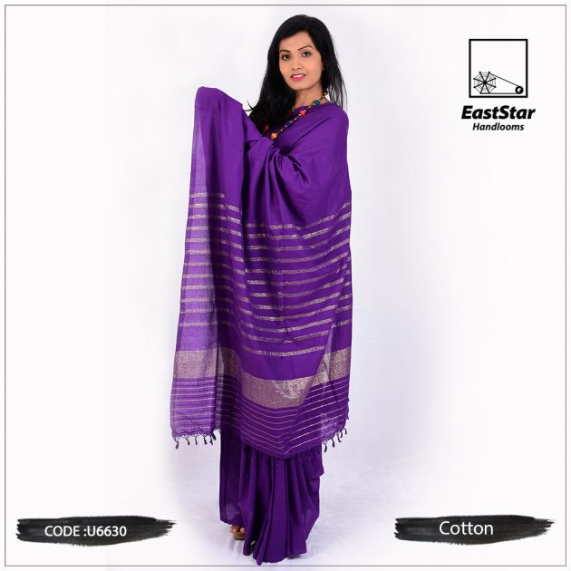 handloom cotton saree U6630