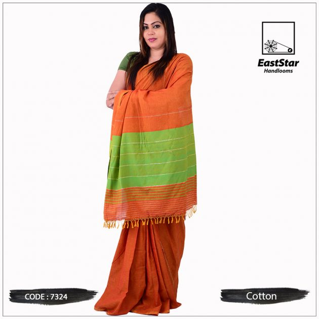 Handloom Cotton Saree 7324