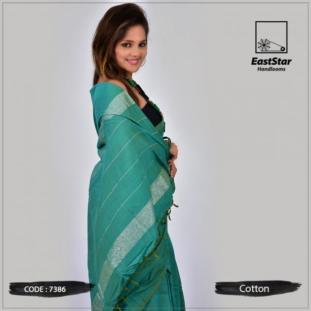 Handloom Cotton Saree 7386