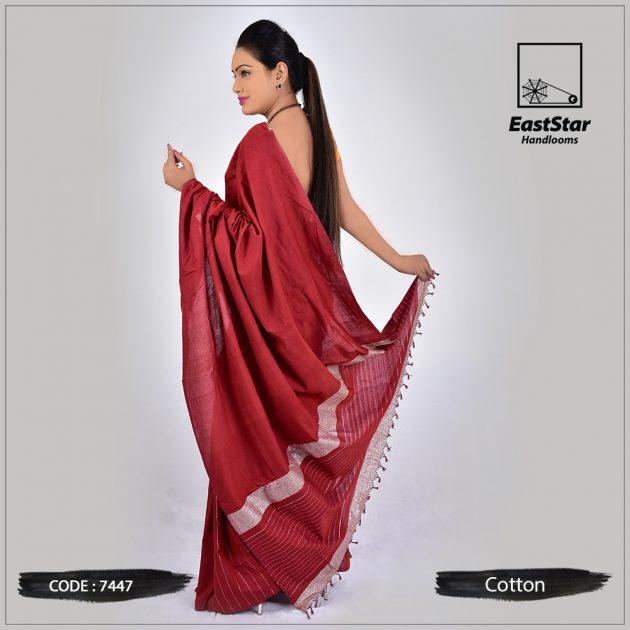 Handloom Cotton Saree 7447