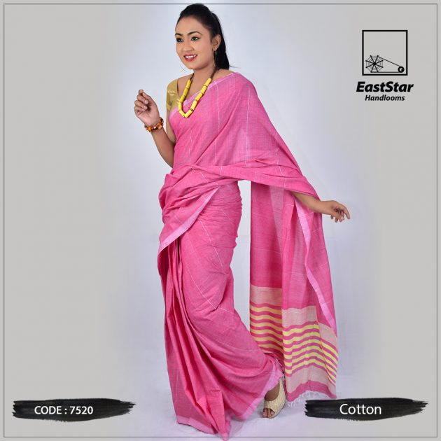 Handloom Cotton Saree 7520