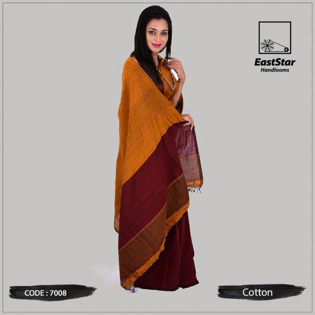 Handloom Cotton Saree 7008