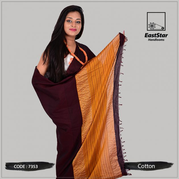 Handloom Cotton Saree 7353