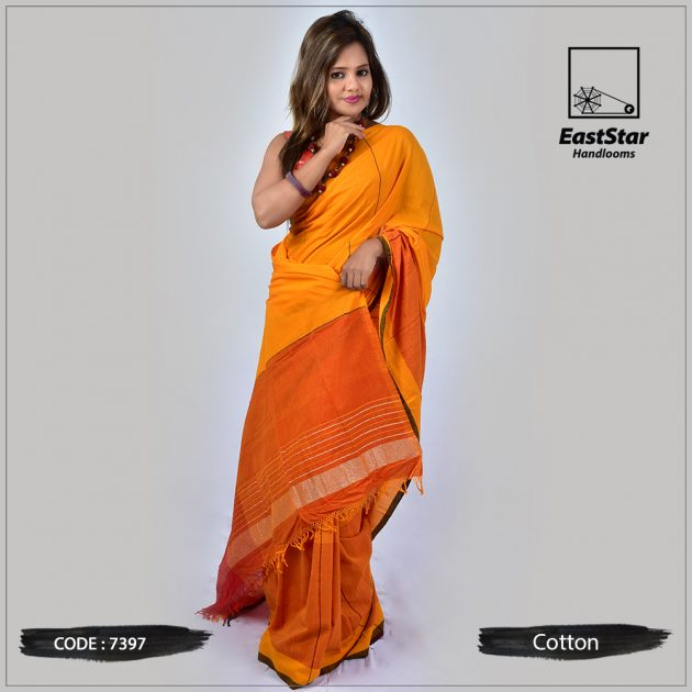 Handloom Cotton Saree 7397