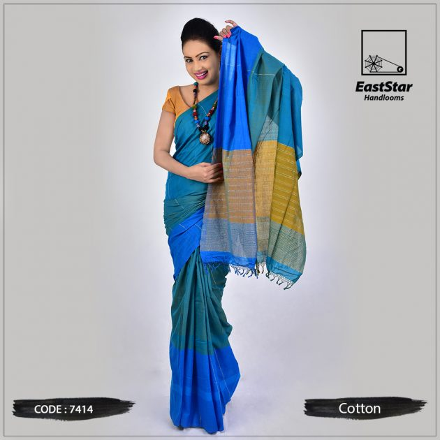 Handloom Cotton Saree 7414
