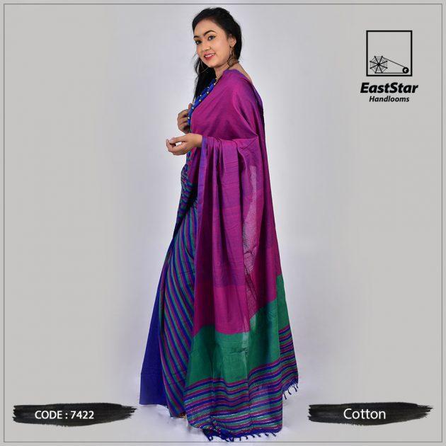 Handloom Cotton Saree 7422