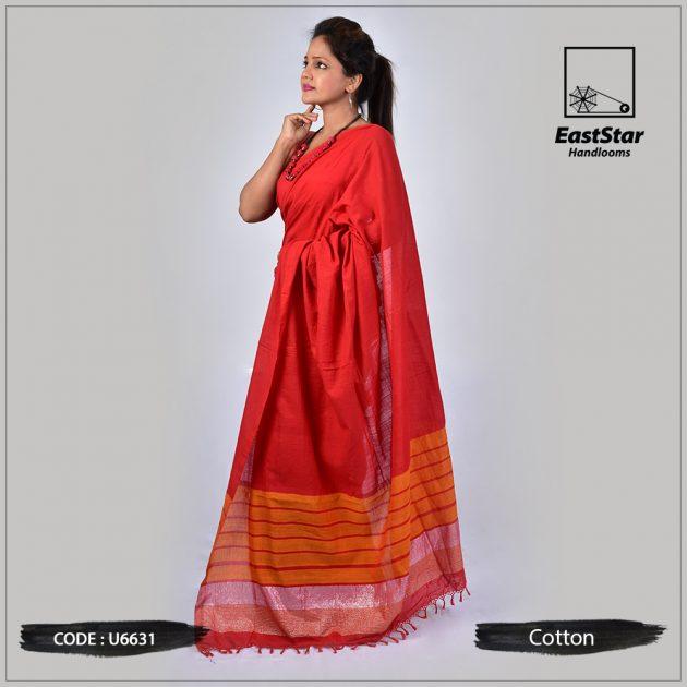 Handloom Cotton Saree U6631