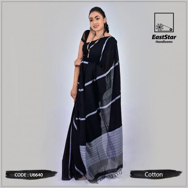 Handloom Cotton Saree u6640