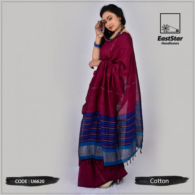 Handloom Cotton Saree U6620
