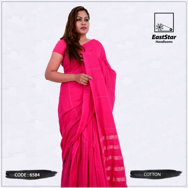 Handloom Cotton Saree 6584