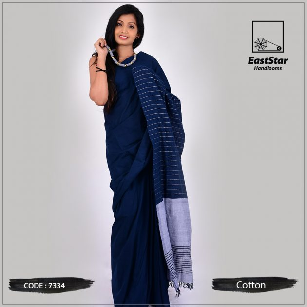 Handloom Cotton Saree 7334