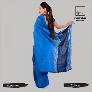 Handloom Cotton Saree 7343