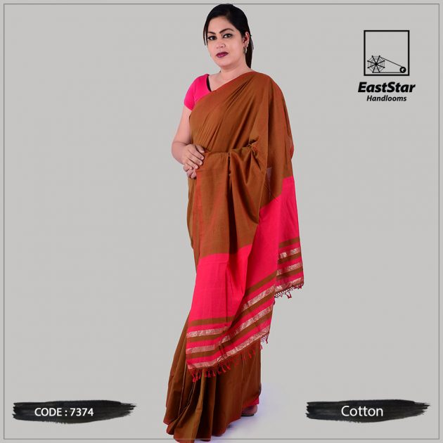 Handloom Cotton Saree 7374