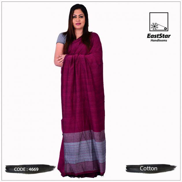 Handloom Cotton Saree 4669