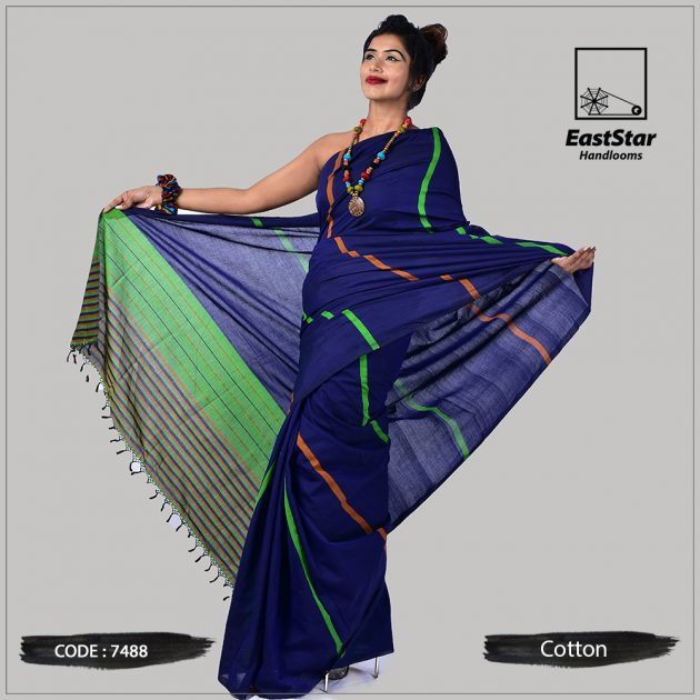 Handloom Cotton Saree 7488