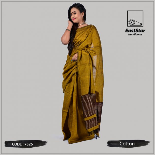 Handloom Cotton Saree 7526
