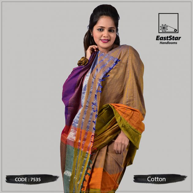 Handloom Cotton Saree 7535