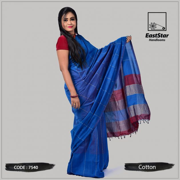 Handloom Cotton Saree 7540