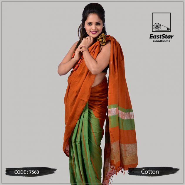 Handloom Cotton Saree 7563