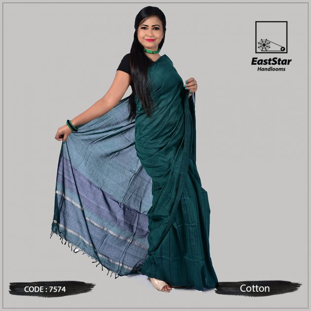 Handloom Cotton Saree 7574