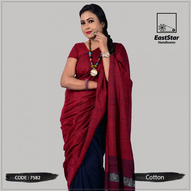 Handloom Cotton Saree 7582