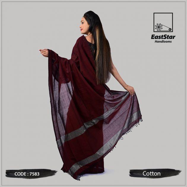 Handloom Cotton Saree 7583