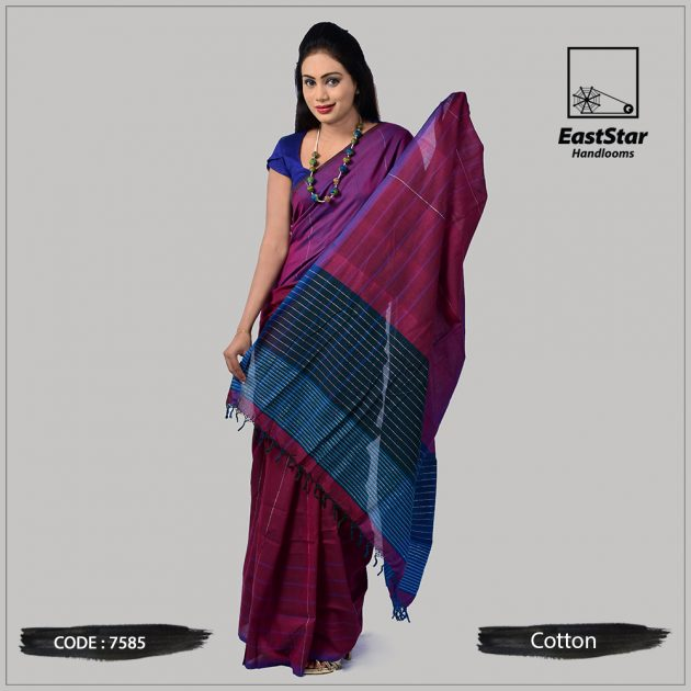 Handloom Cotton Saree 7585