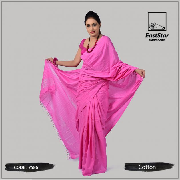 Handloom Cotton Saree 7586