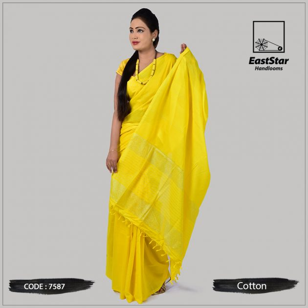 Handloom Cotton Saree 7587
