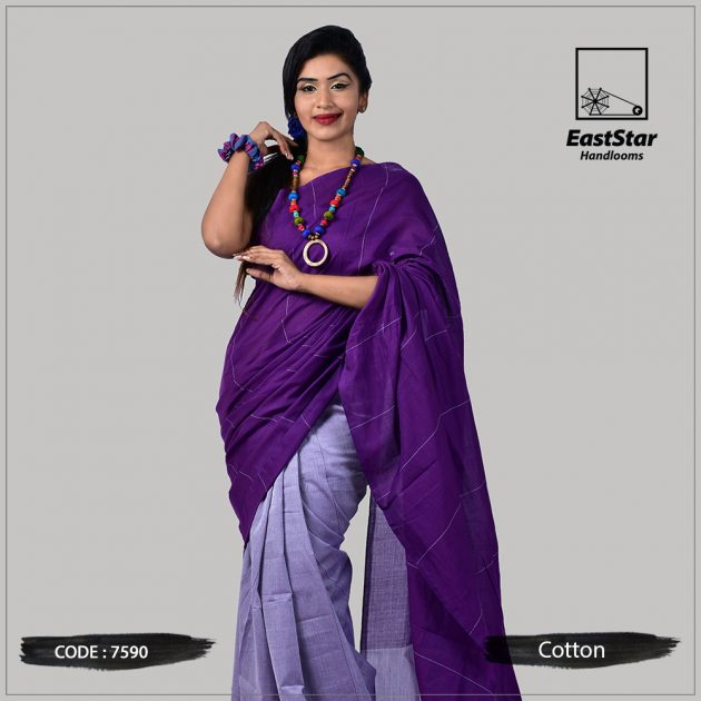 Handloom Cotton Saree 7590