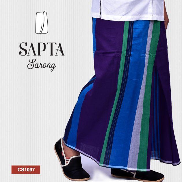 Handloom Cotton Sapta Sarong CS1097