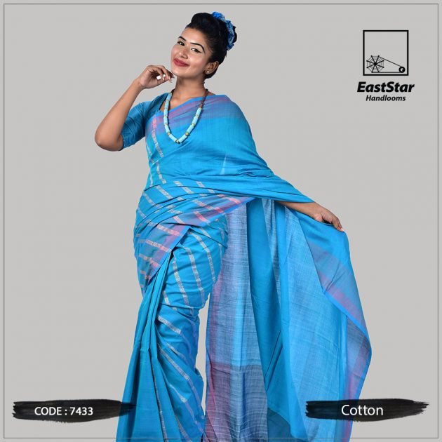 Handloom Cotton Saree 7433